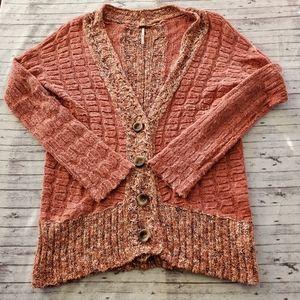 Free People Sweater Small Chunky Knit Cardigan